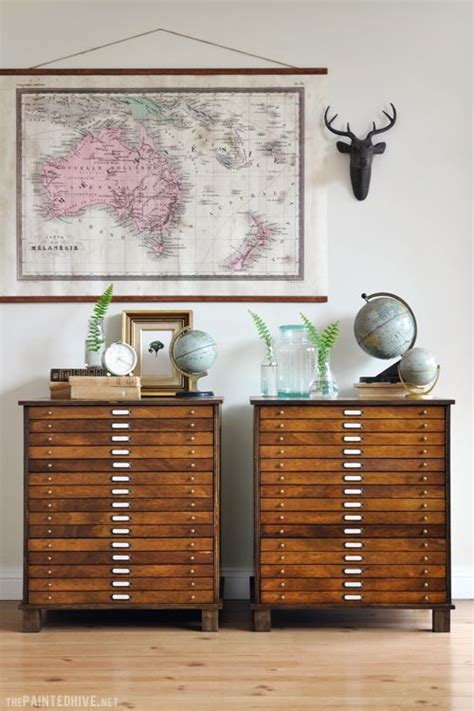 map drawer diy map drawer cabinet from laminate bedside tables