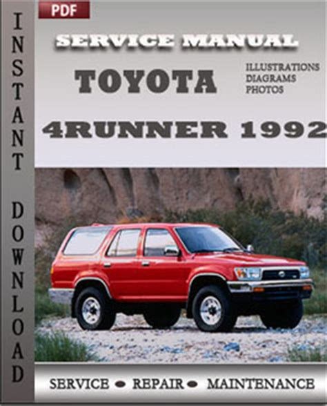 free auto repair manuals 1992 toyota 4runner regenerative braking 1990 toyota 4runner factory service manual