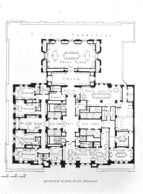 floor plan of proposed new banking quarters for the royal bank of canada vancouver b c space to think bob pritchett
