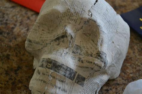 How To Make Paper Mache Skull - diy paper mache skull skully