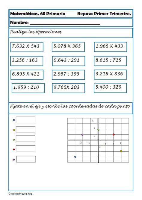desafios matematicos alumnos 6o sexto grado primaria by gines ciudad ejercicios de matem 225 ticas para sexto de primaria