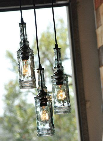 Glass Bottle Chandelier The Parisian Recycled Glass Bottle Chandelier