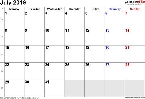 July 2019 Calendar Printable Calendar July 2019 Uk Bank Holidays Excel Pdf Word Templates