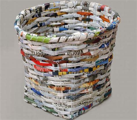 How To Make Waste Paper Craft - blographic design made from recycled newspaper