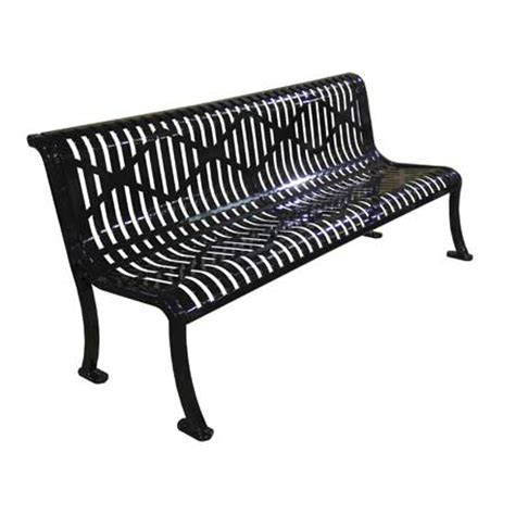 leisure craft benches commercial leisure craft armless roll formed diamond bench select your color bar