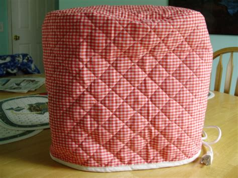 red gingham appliance cover fits kitchen aid mixers quilted kitchenaid stand mixer cover red gingham