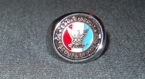 Cincin Eagle Scout Boy Scouts America Ring Band eagle scout ring shop collectibles daily