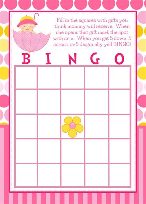 Baby Shower Bingo Card Template by How To Play Baby Shower Bingo Baby Shower Ideas