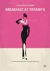 Holiday Duvet Cover No204 My Breakfast At Tiffanys Minimal Movie Poster