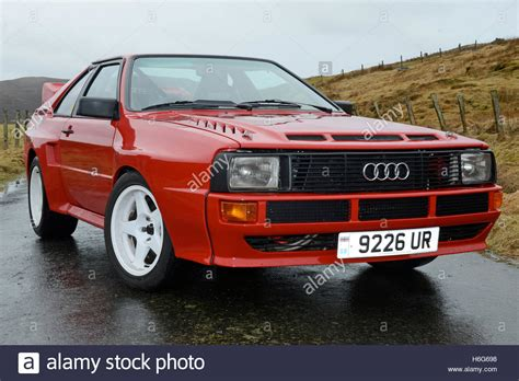 audi rally audi quattro rally car 2 door version stock photo
