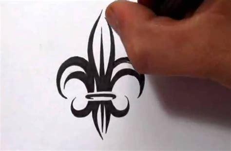 drawing  tribal fleur de lis tattoo design youtube