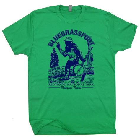 t shirt bluegrass t shirts folk rock tees bigfoot t shirts