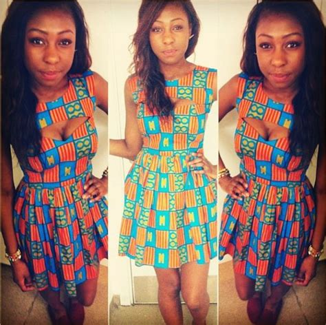 image for ankra skater dress style ankara skater dress with cutout modern african fashion