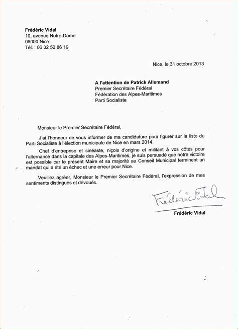 5 modele lettre candidature lettre administrative