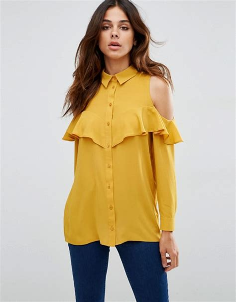 Asos Cold Shoulder Blouse by Asos Asos Cold Shoulder Blouse With Ruffle