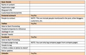 Distribution Plan Template by A Simple And Indispensable Template For Content Marketing