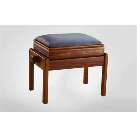 single adjustable piano stool with fixed leg box at