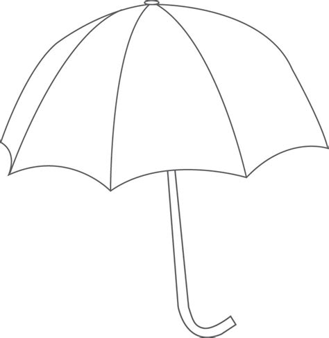 printable umbrella template for preschool umbrella template clipart best