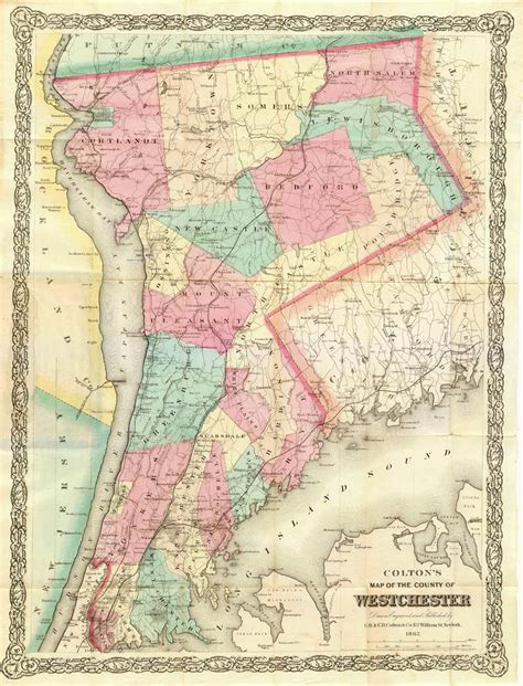 westchester county map history of westchester county