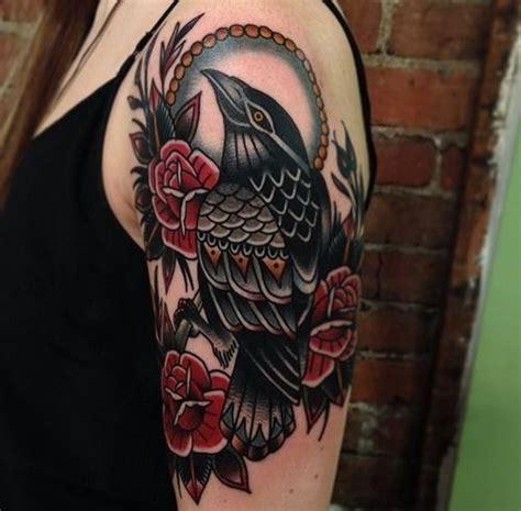 traditional crow tattoo traditional tattoos on tattoos