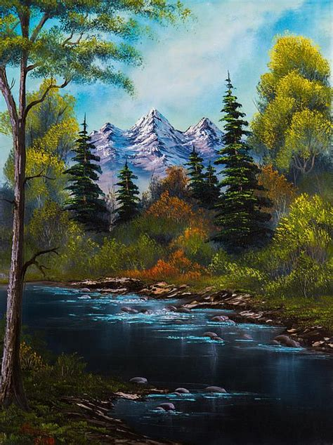 are bob ross paintings fisherman s retreat by c landscapes