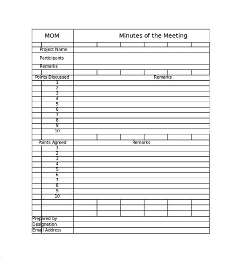 Meeting Minutes Template Excel 42 Free Sle Meeting Minutes Templates Sle Templates