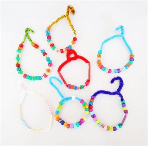 pipe cleaner bead ornaments keepsake creation kid craft diy ornaments