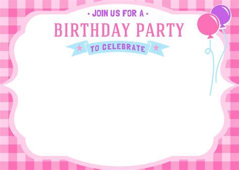 birthday invitations free printable birthday invitations bagvania free