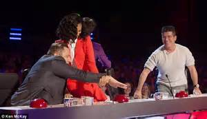 Try Not To Nightmares And Simon Made Of Wax by Simon Cowell Gets A Soaking From Amanda Holden After The