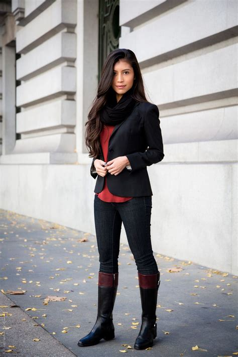 fall dresses with boots fall series casual boots fashion