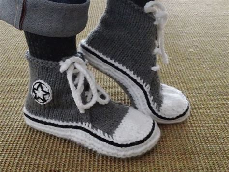 crochet running shoe slippers high top sneaker slippers pattern by elizabeth