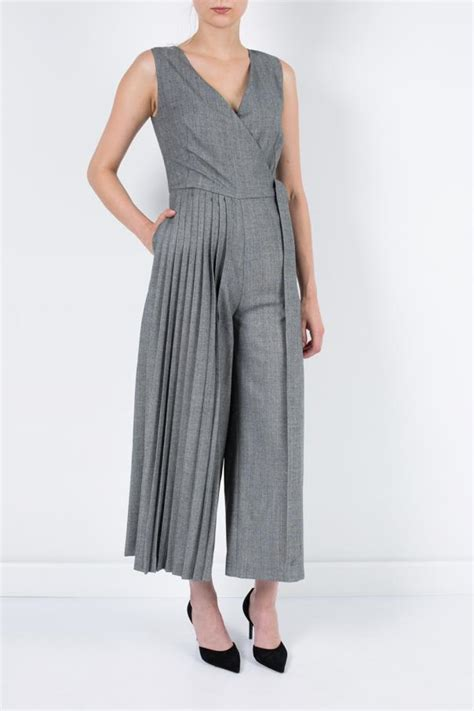 Jamsuit Kombi Grey pleated jumpsuit osman sklep internetowy vitkac