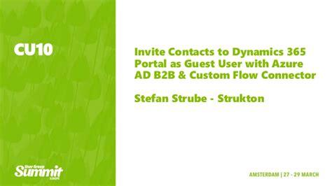 invite contacts  dynamics  portalvas guest user