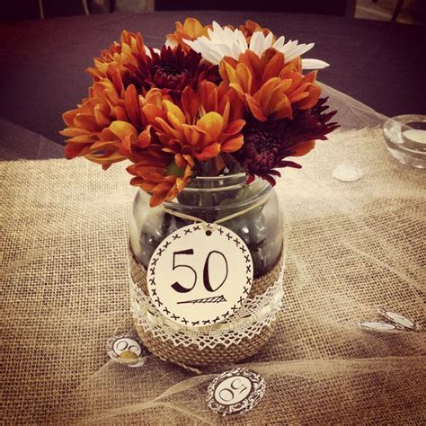 50th wedding anniversary party centerpiece   Projects I