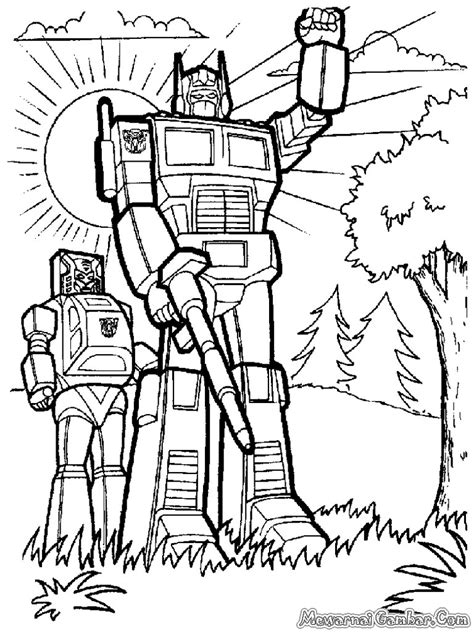 gambar mewarnai robot gambar mewarnai the knownledge