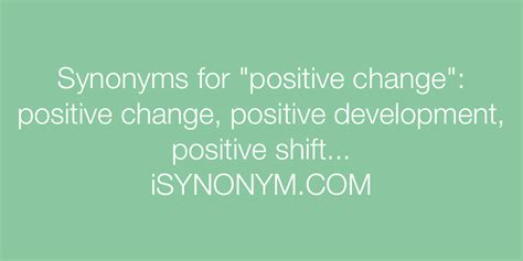 changer synonym synonyms for positive change positive change synonyms