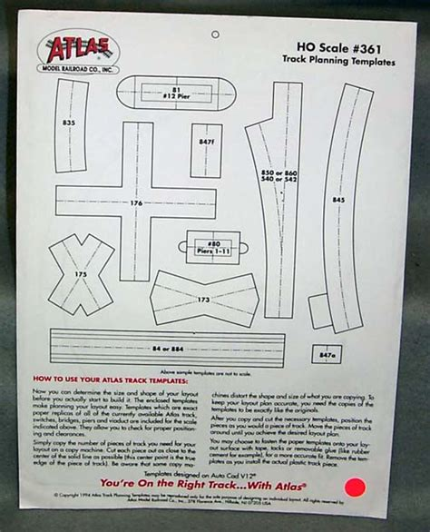 track templates ho track planning template