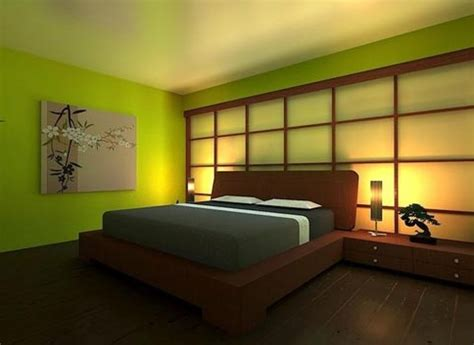 Japanese Style Bedroom colorful japanese bedroom style with big mirror