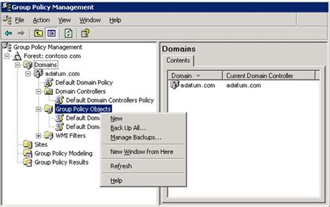 manage restore backup group policy objects  windows