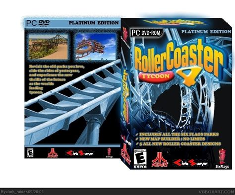 the jaguar tycoon books roller coaster tycoon 4 pc box cover by dark raider