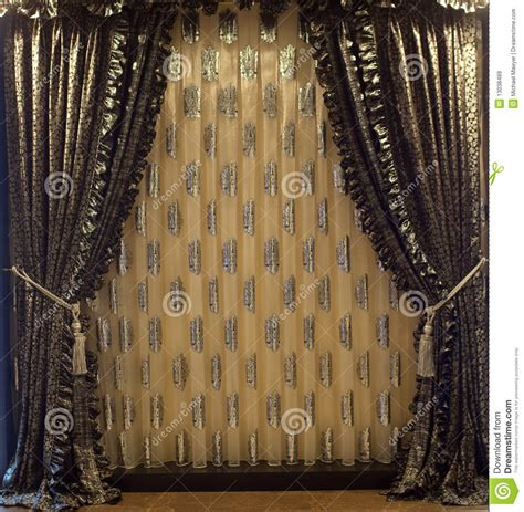 historic curtains luxurious window curtains royalty free stock images