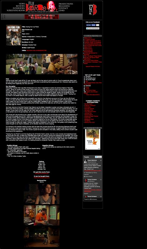 film review for up having fun up there red cow entertainment
