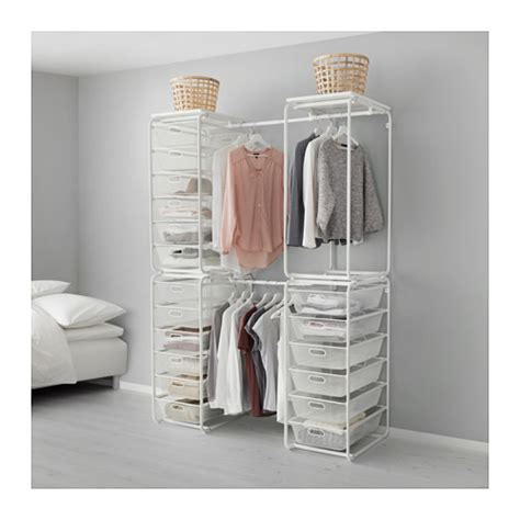 open clothes storage algot frame with rod baskets and top ikea