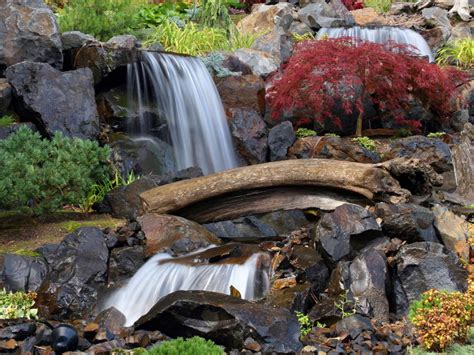 backyard water falls waterfall designs hgtv