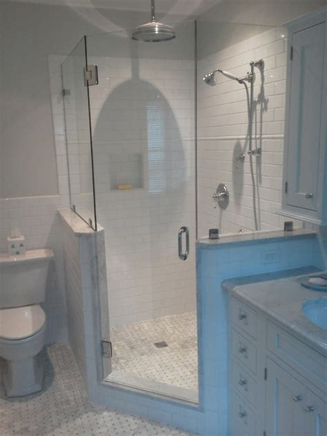 Frameless Shower Doors Traditional Bathroom Traditional Bathroom Light Pulls