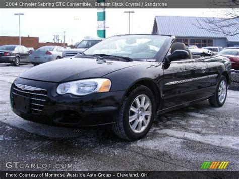 2004 Chrysler Sebring Gtc Convertible by Brilliant Black 2004 Chrysler Sebring Gtc