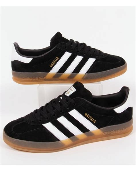 adidas gazelle black adidas gazelle indoor core black white gum originals