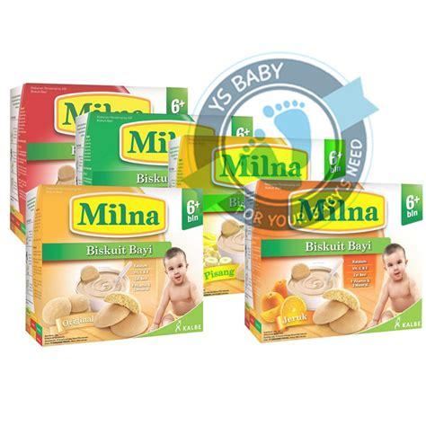 Milna Biscuit Bayi Pisang 130 Gr milna biskuit 6 biscuit aa dha bayi 130gr shopee indonesia