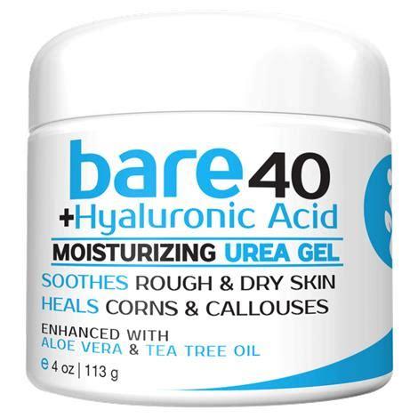 bare 40 plus hyaluronic acid moisturizing urea gel