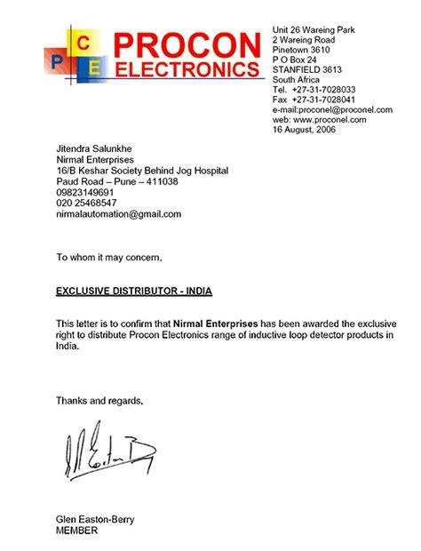 certification letter for dealership dealership certificate